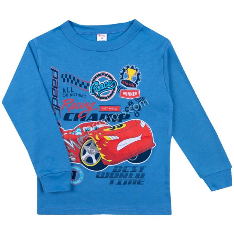 Блуза д.р. RaceMak в н.синьо /86-128/ интерлог