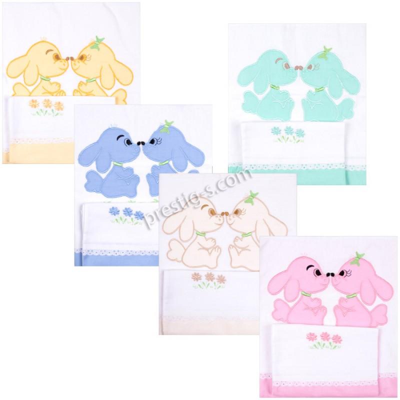 Комплект детско спално бельо (двуцветно хасе)