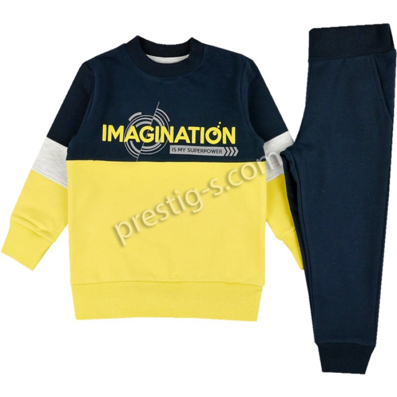Комплект момче Imagination в жълто /86-134/ ликра