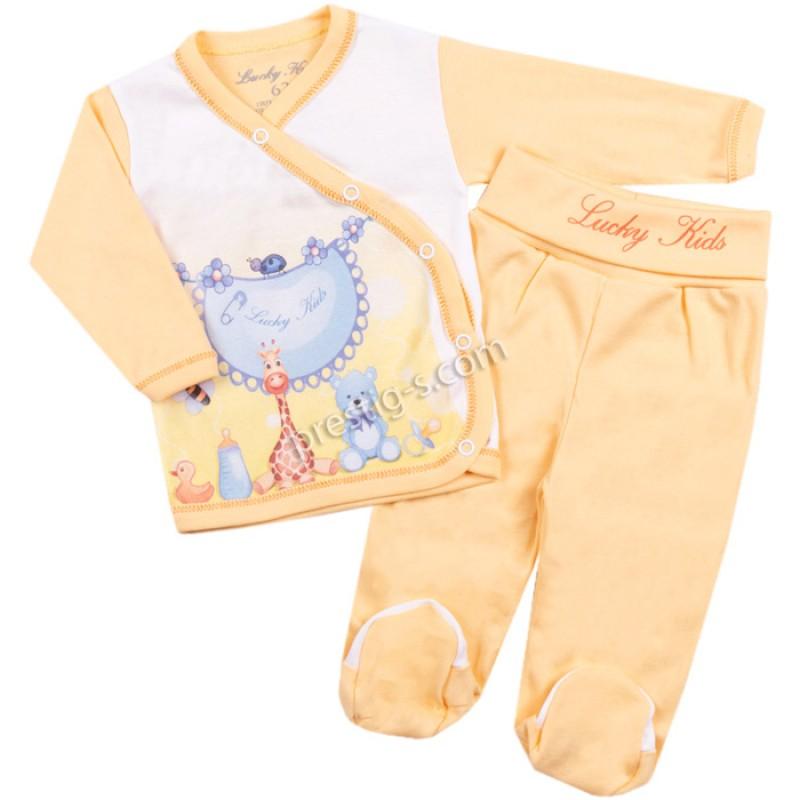 Жилетка и ританка Жирафче в жълто /56-68/ рипс