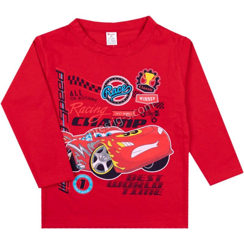 Блуза д.р. RaceMak в червено /86-128/ интерлог