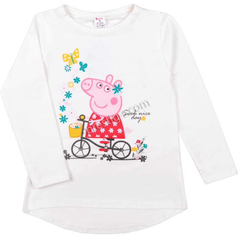 Блуза д.р. Пепи с колело в екрю /86-128/ ликра