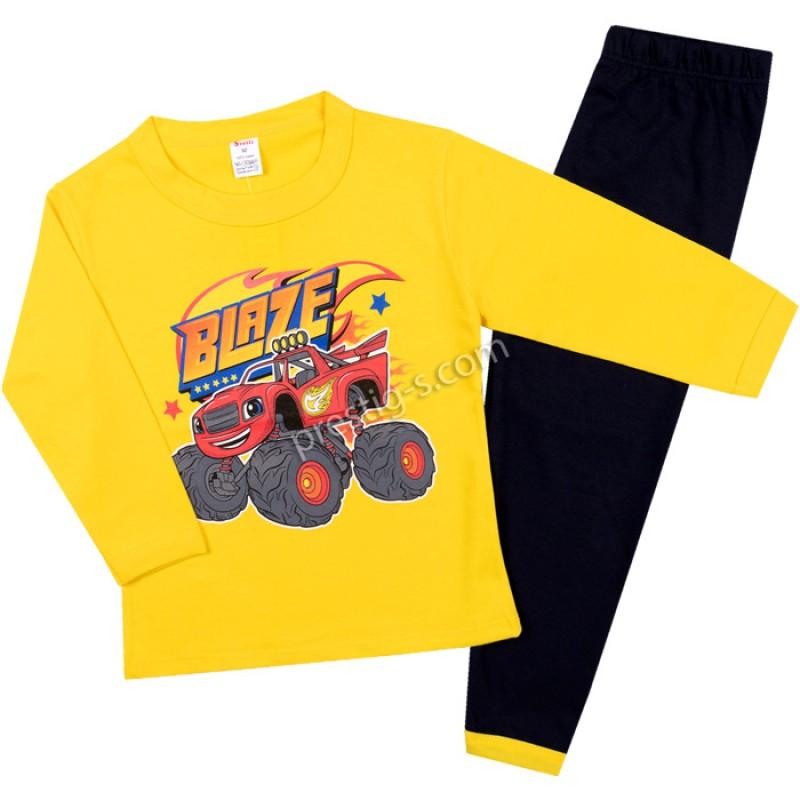 Пижама д.р. Blaze в жълто/т.синьо/86-128/ сингъл