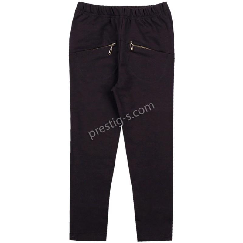 Клин-панталон с джобчета в черно /116-158/ - ликра