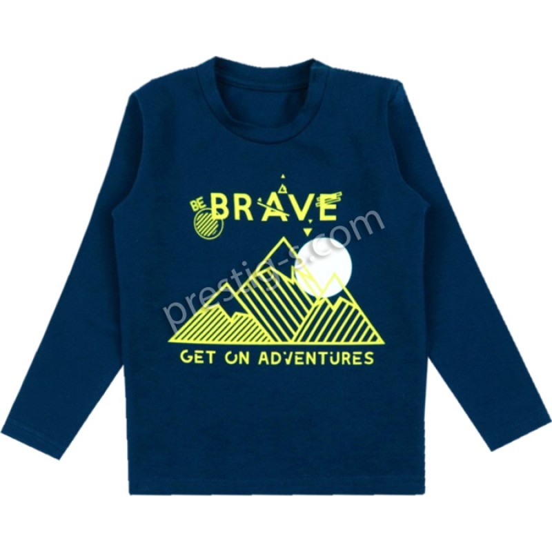 Блуза д.р. м.625 Brave в т.синьо /86-128/ ликра