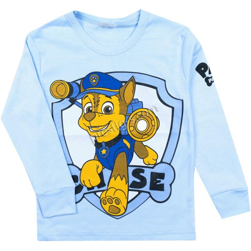 Блуза д.р. Кученцето в ел.синьо /86-116/ ликра