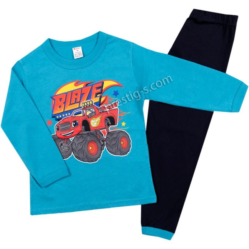 Пижама д.р. Blaze в н.синьо/т.синьо/80-128/ сингъл