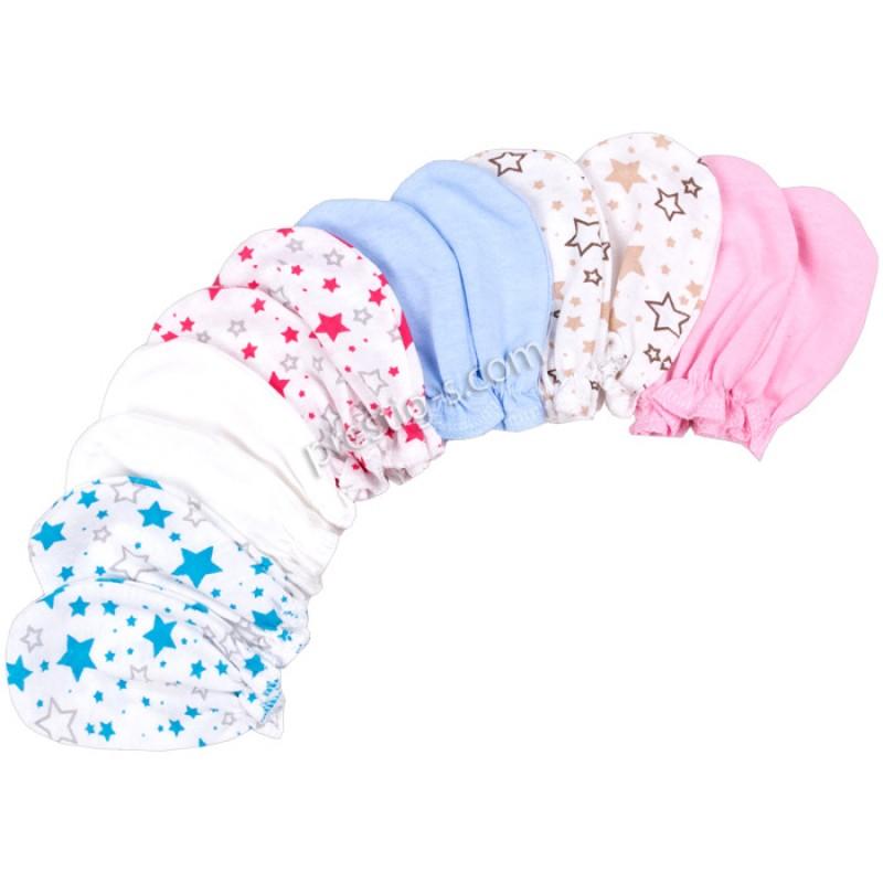 Бебешки ръкавички щампирани и едноцветни