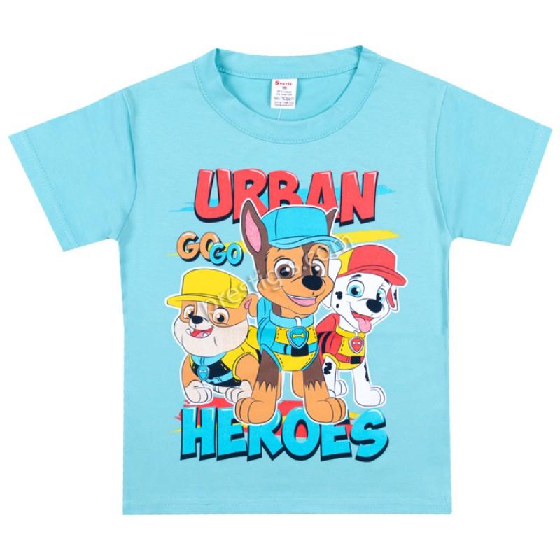 Тениска Urban в електрик синьо /86-128/ ликра