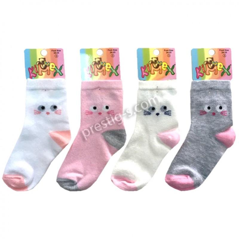 """Чорапки за момиче """"Муцунки"""" /№0 - №3/"""