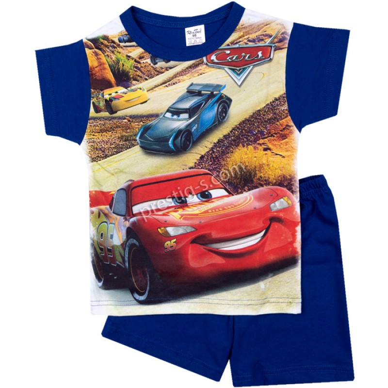Пижама к.р. Cars в м.синьо /98-116/ сингъл