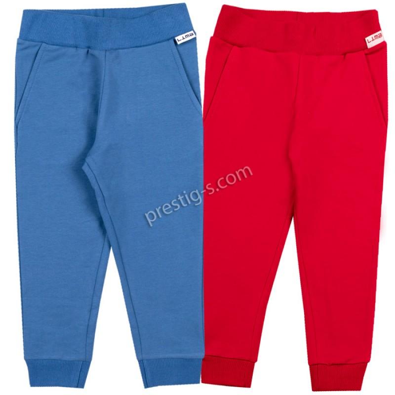 Долнище момче м.571 в синьо/червено /86-128/ ликра