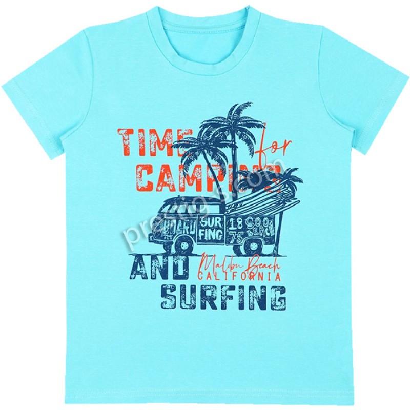 Тениска м.628 Surfing в св.електрик /86-116/ ликра