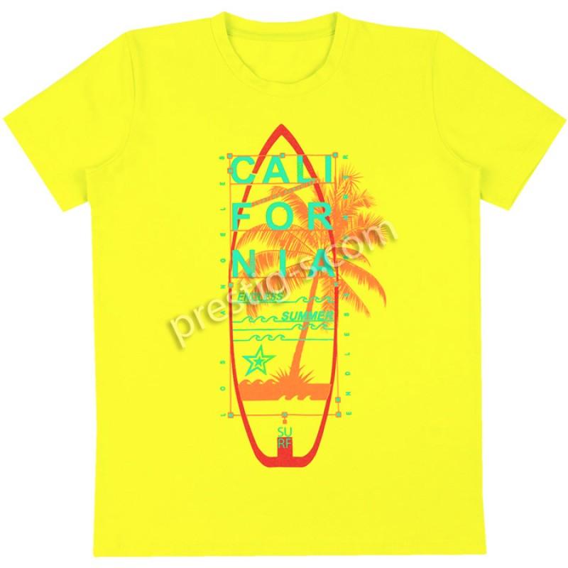 Тениска м.629 California в жълто /122-152/ ликра