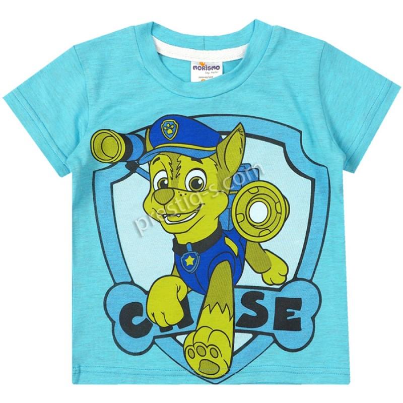 Тениска Кученцето в ел.синьо /74-104/ ликра