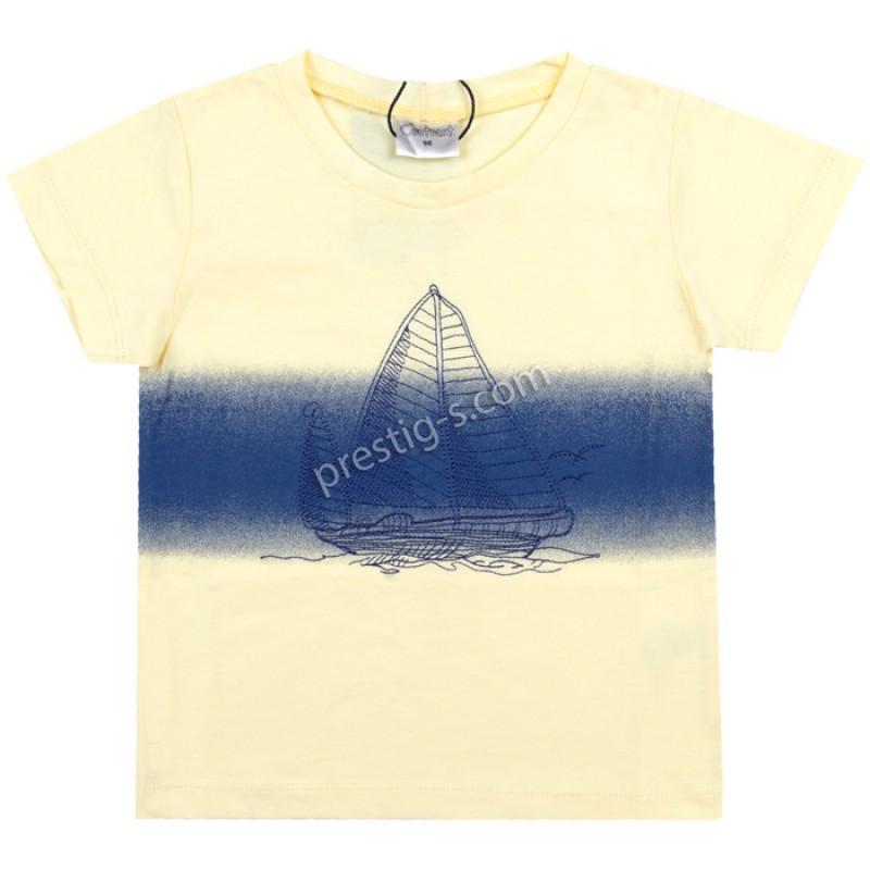 Тениска Платноходка в жълто /68-110/ м.601 413-1