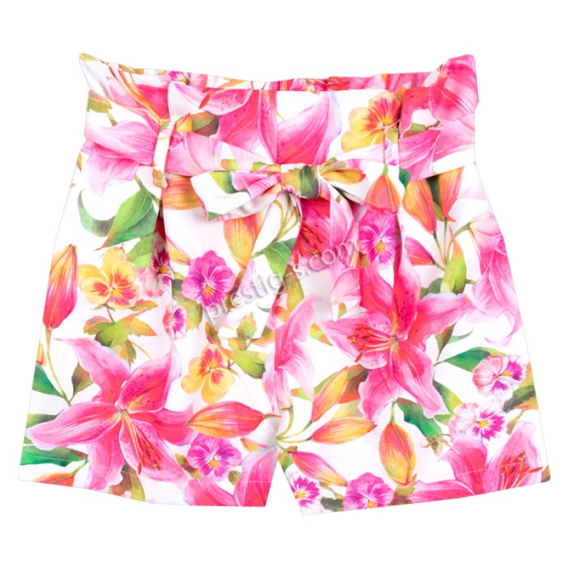 Къси панталонки на Цветя с коланче /122-152/ м.201 441