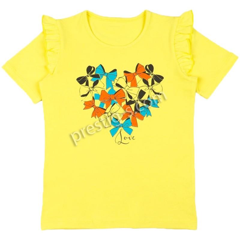 Блуза к.р. момиче Сърце м.631 в л.жълто /86-116/ ликра