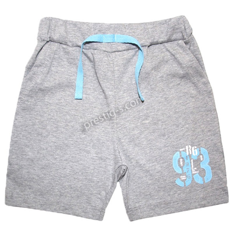 Къс панталон с джоб /86-116/ в сив меланж