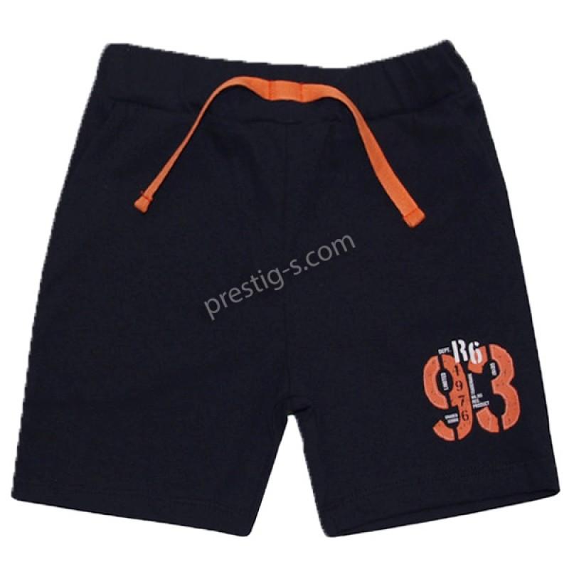 Къс панталон с джоб /86-116/ в черно/оранж