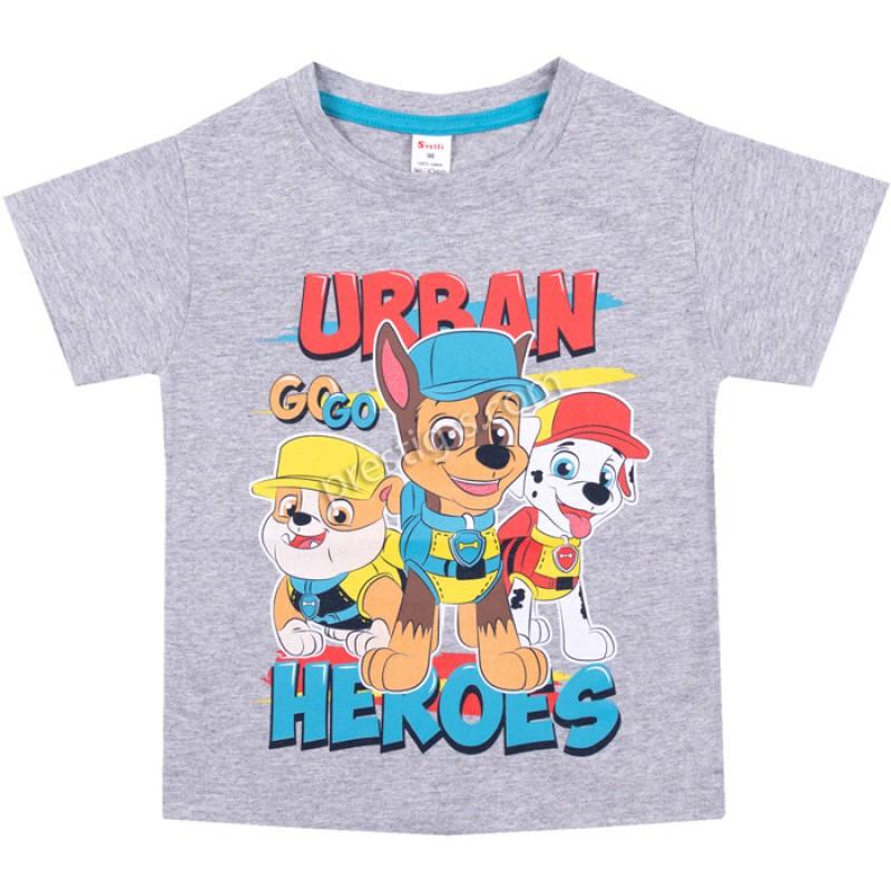 Тениска Urban в сив меланж /86-128/ ликра