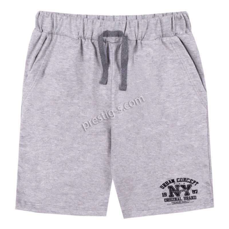 Къс панталон с джоб /122-134/ в сив меланж