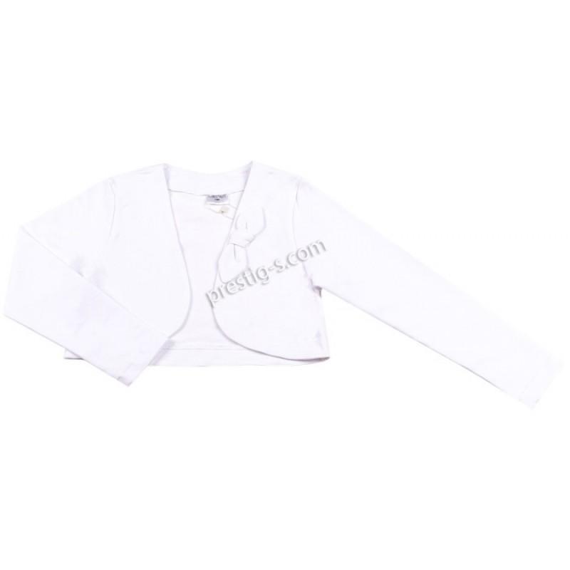 Болеро Контраст с панделка м.900 795-6 /74-152/ в бяло