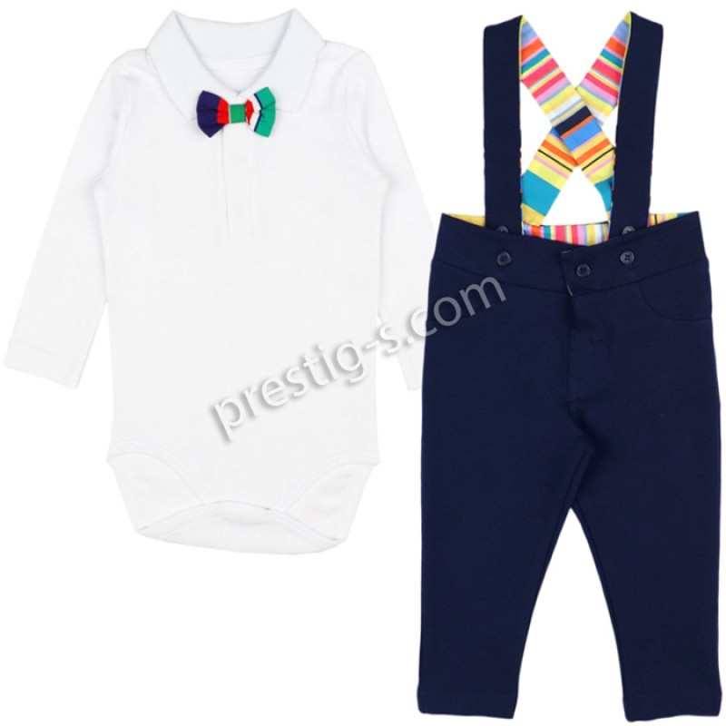 Бебешки комплект за Момче в тъмно синьо /62-80/ м.611
