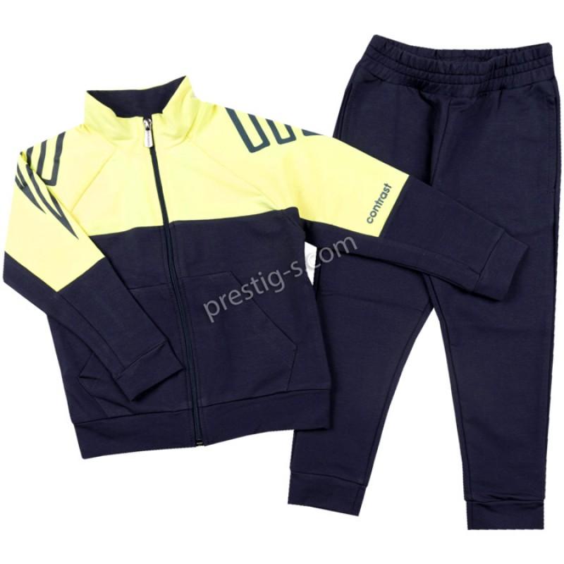 Екип момче в неон жълто/т.синьо /98-116/ м.401 351