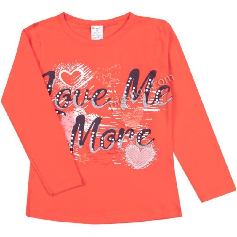 Блуза д.р. Love Me в оранж /104-116/ ликра