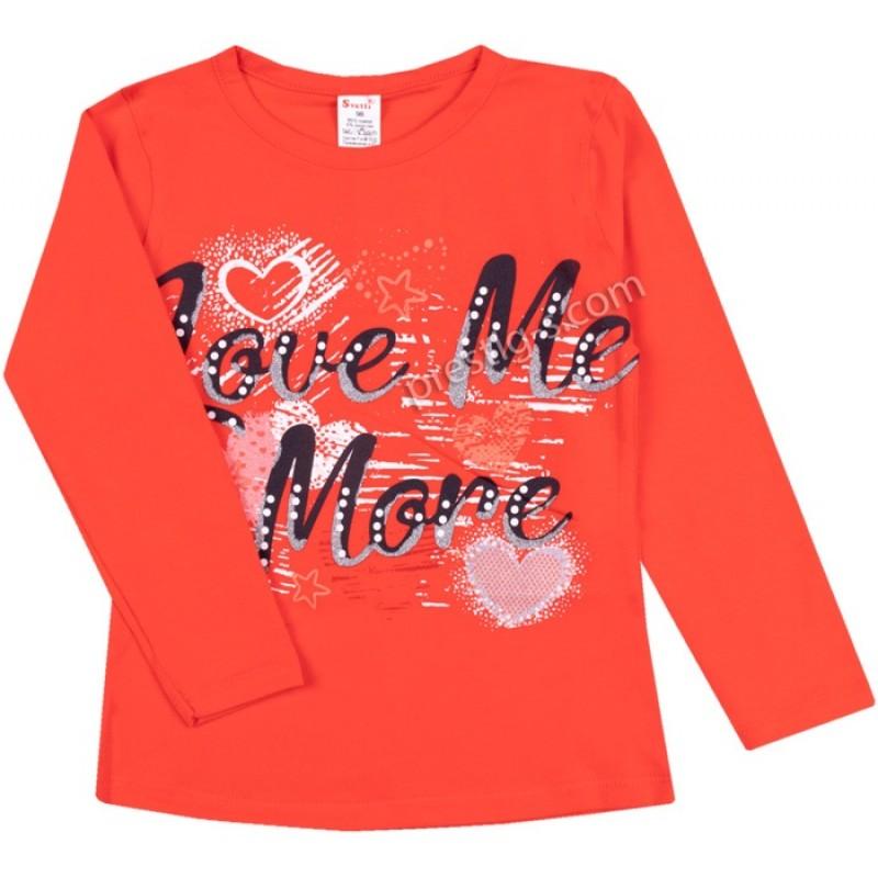 Блуза д.р. Love Me в червен корал /86-116/ ликра