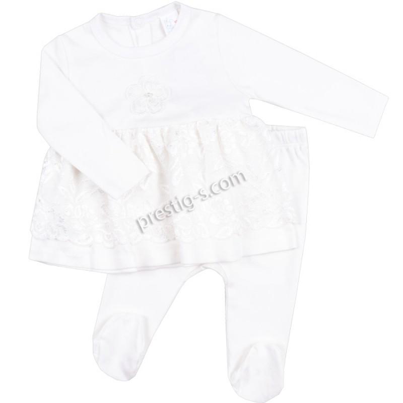 Бебешки комплект 2 ч. Дантела - екрю /50-68/ интерлог
