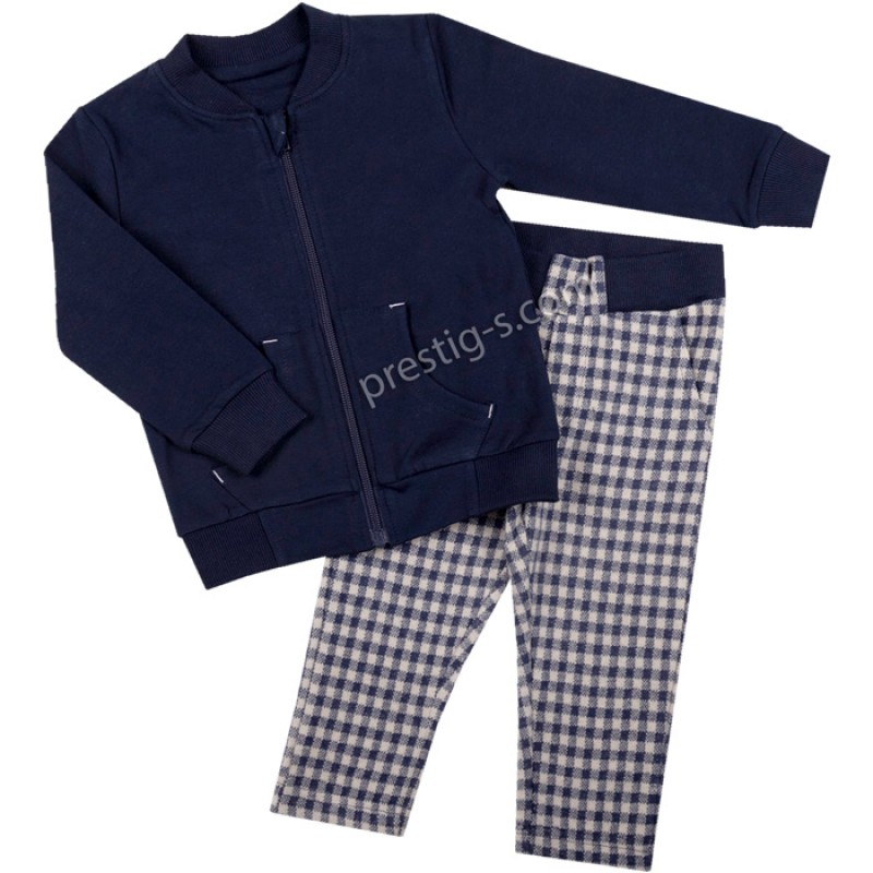 Комплект Суитшърт с панталон каре м.603 /68-98/ ликра
