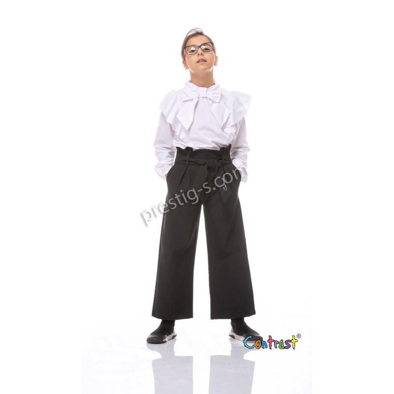 Панталон с коланче в черно /128-164/ м.201 470
