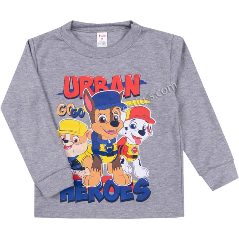 Блуза д.р. Urban в сив меланж /86-116/ интерлог