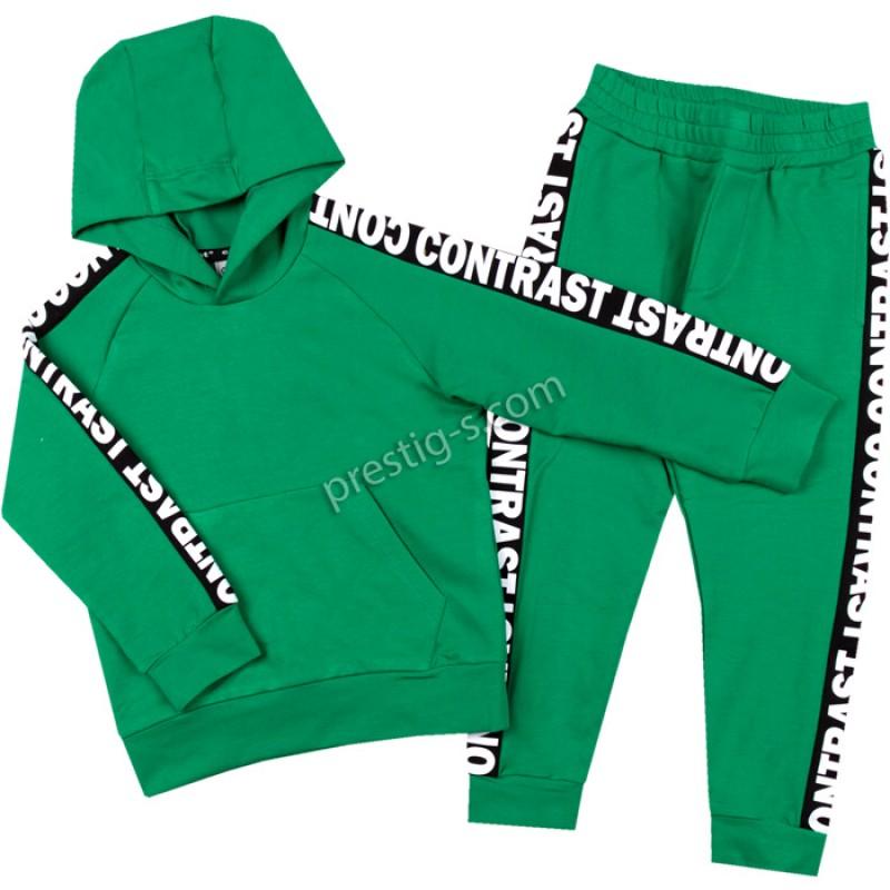 Комплект Момче с качулка в зелено /98-122/ м.401 327