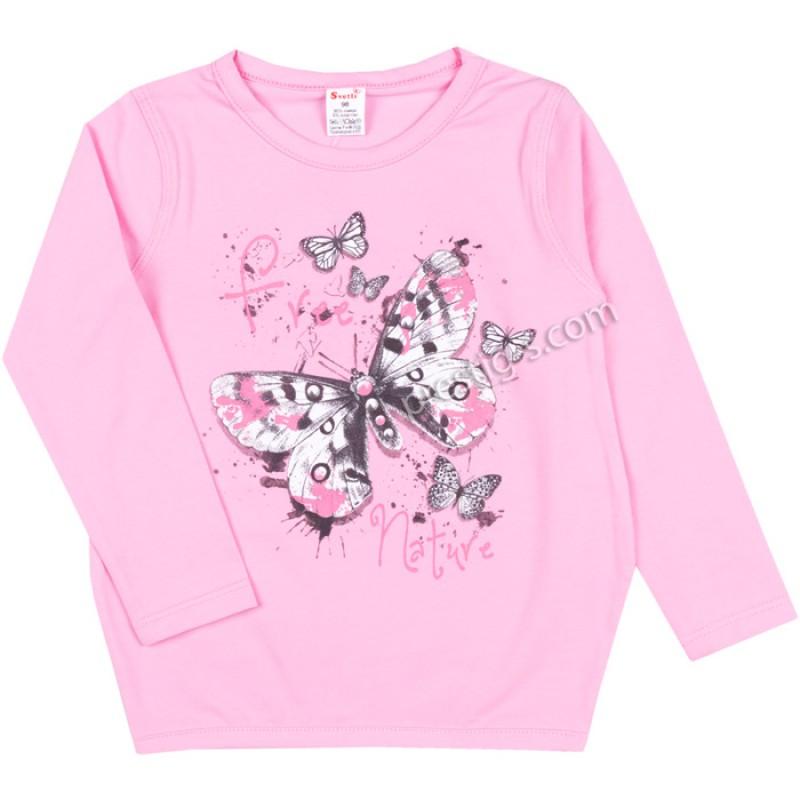 Блуза /туника/ д.р. Пеперуди в розово /86-116/ ликра