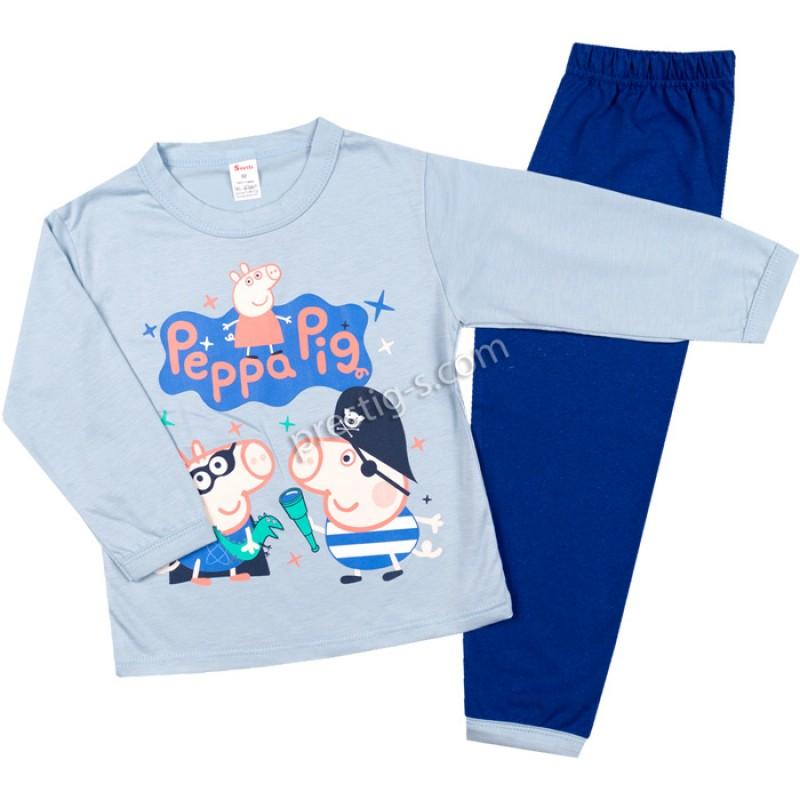 Пижама д.р. Джордж в м.синьо/я.синьо /86-122/ сингъл