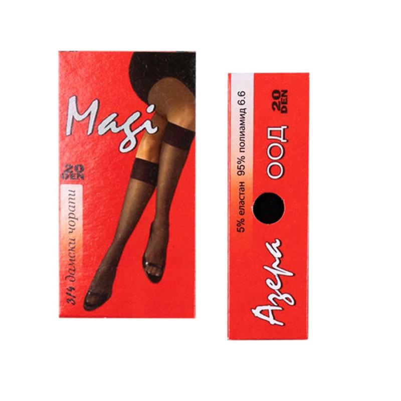 Дамски чорапи 3/4 Маги - Гладък 20 DEN /бежов/