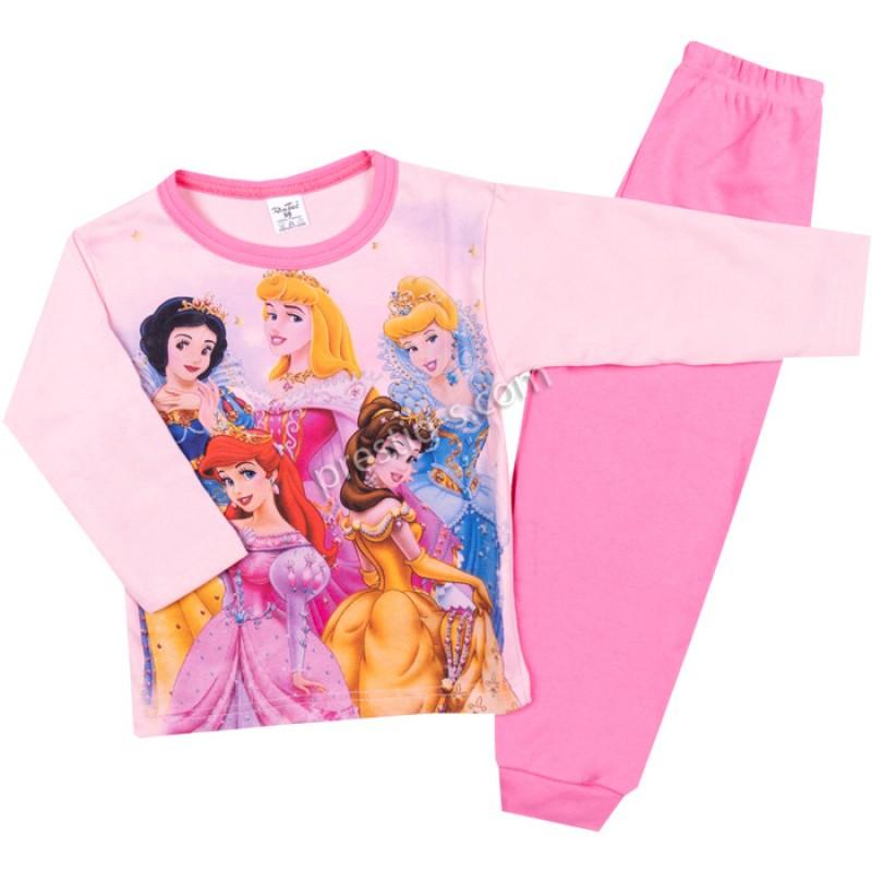 Пижама д.р. Принцеси в св.розово/бонб.розово/98-116/ интерлог