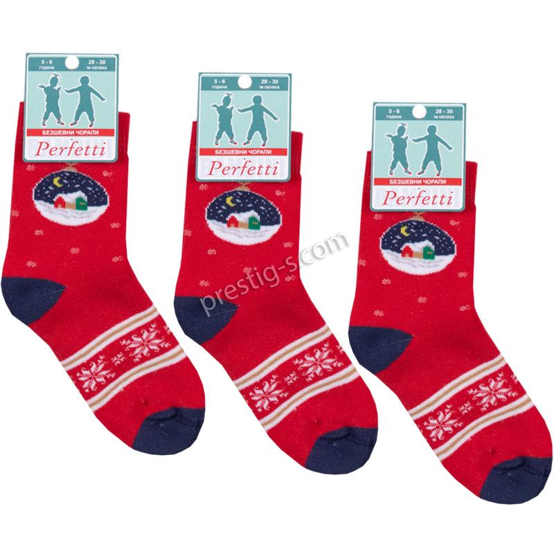 "Коледен Термо чорап къс /безшевен/ - ""К-7 - ДК топки"""