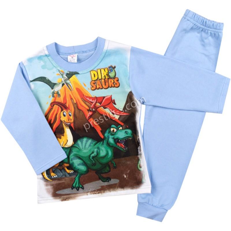 Пижама д.р. Дино в синьо /98-116/ л.вата