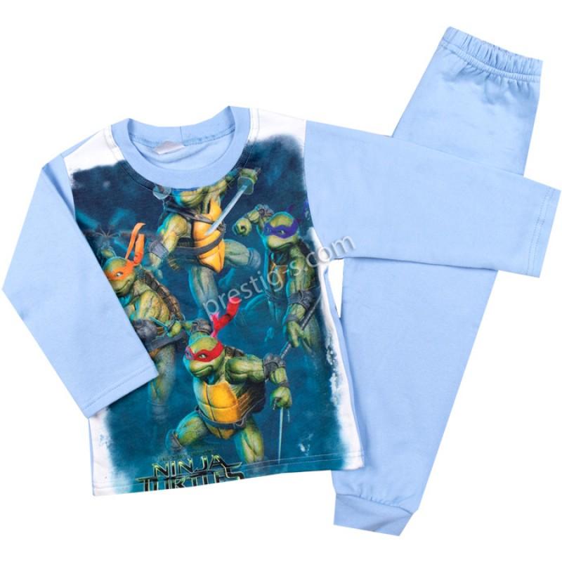 Пижама д.р. New Костенурки в синьо /98-116/ л.вата