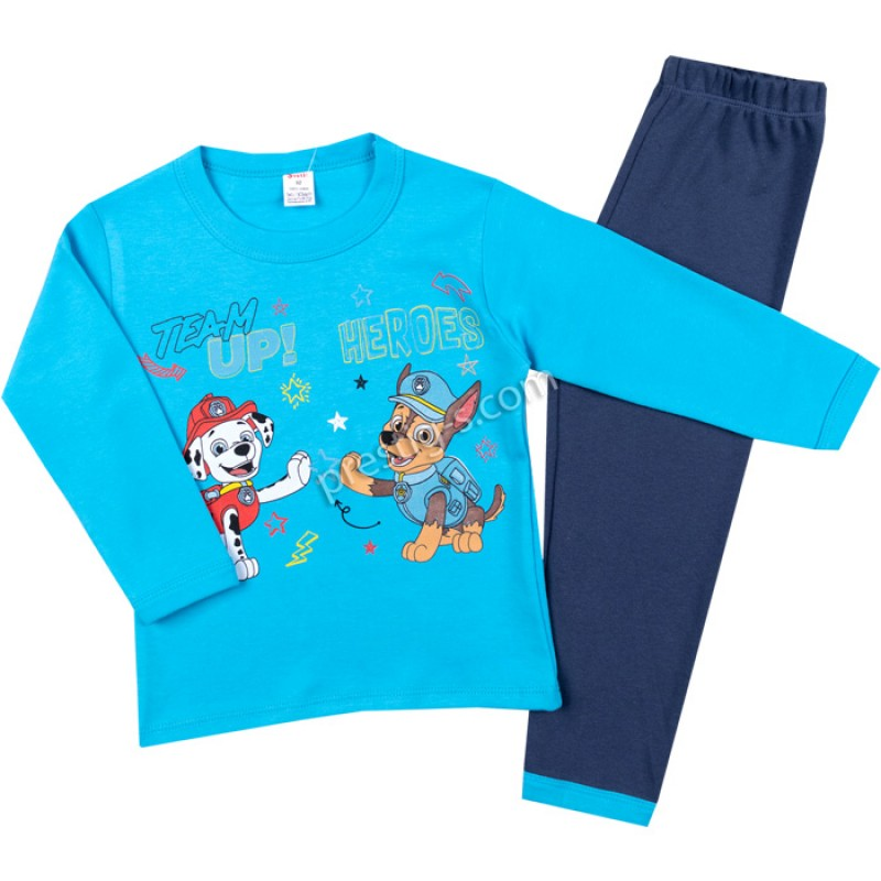 Пижама д.р. TEAM в синьо/т.синьо /86-128/ интерлог