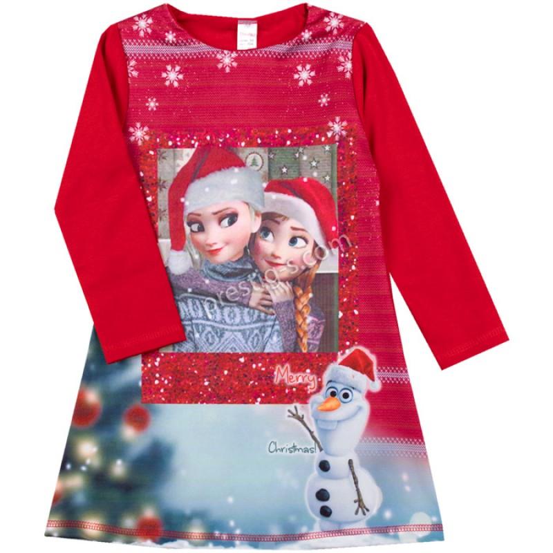 Коледна рокля Ели и Анна /104-128/ л.вата-ликра