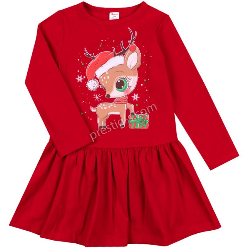 Коледна рокля Малкото Еленче /68-128/ л.вата-ликра