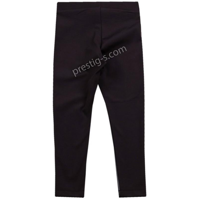 Кожен клин-панталон с джобчета в черно /128-170/ м.201 380