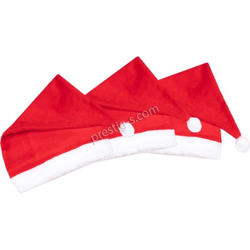 Коледна шапка /86-116/ в червено