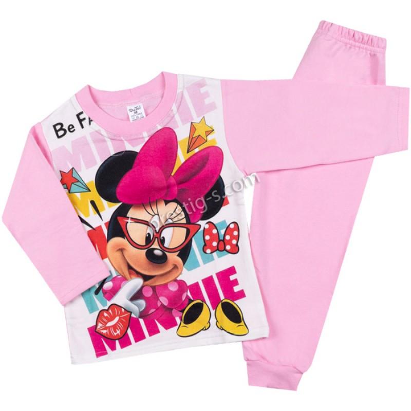 Пижама д.р. Момиче с очила в розово /98-116/ л.вата