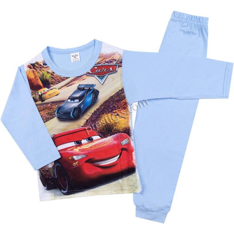 Пижама д.р. Cars в св.синьо /98-116/ сингъл